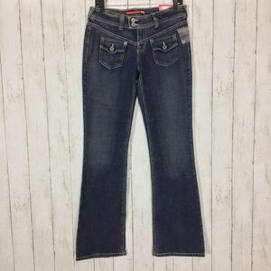 NWT Guess Flare Leg Jeans Blue Denim Stretch New
